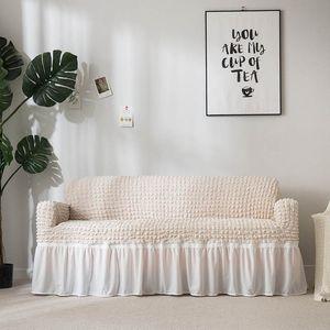 Elastik Koltuk Kapak Ekose Slipcover Evrensel Mobilya Salon Koltuk Kanepe 1/2/3/4 Seat için şık Etek ile Kapaklar