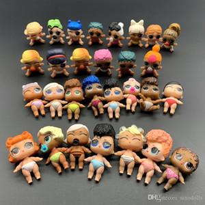 Sevimli Eylem Şekil Çocuklar Bebekler Kız Noel Hediye tekrar edilmez Unpacking 5Pcs Baby Doll Oyuncak Renk Değişimi Yüksek kaliteli küçük kardeş