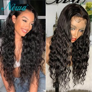 Lace Front Human Hair Wigs For Black Women Brazilian Human Lace Wigs Pre Plucked Natural Wave Hair Newa