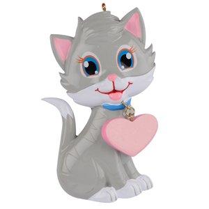 Maxora Kawaii sevimli kedicik Polyresin Kedi Noel Süsleme Ücretsiz kişiselleştirin Parlak El yapımı Craft Hediyelik İçin Hediye Ev Dekorasyonu