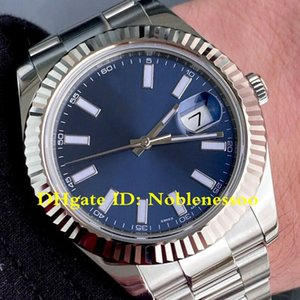 20 Style Mens Watch Datejust II 116334 Blue Dial Steel Fluted Bezel 126333 126300 126331 Asia 2813 Movement Automatic Men's Watches