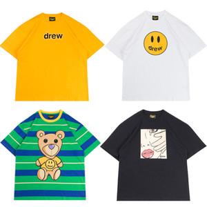 Justin Bieber Drew Evi T gömlek Gülümseme Drew Hip Hop Tee Moda Erkek Tasarımcı Tshirt Kısa Kollu O-Boyun Pamuk