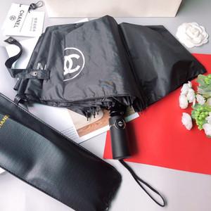 Новое прибытие моды Зонт Зонтик для женщин дизайнер Леди Солнцезащитный зонтик с цветами Птицы печати УФ-защита складной зонтик 004