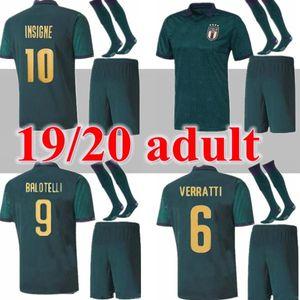 nova Itália renascentista Jersey 2019 2020 EURO INSIGNE Futebol IMMOBILE Itália Third Kit Mens uniforme BELOTTI JORGINHO Football Shirt