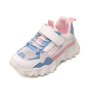 2020 Fashion Mesh Summer Breathable Sneakers Children Girls Boy Sports Casual Shoes Student Kids Flats Running Shoes 4 -13 Years
