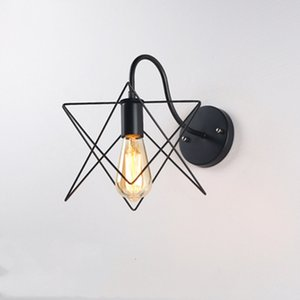 Vintage Black Wall Бра свет Wandlamp ретро стены спальни Lamp 110V-220V E27 Внутренние приспособления Балкон Бар Aisle ночники