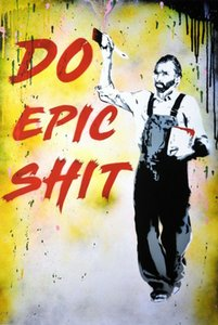 BASM '' Do Epic Shit '' not by Banksy, Kaws Home Decor Handpainted Oil Paintings On Canvas Wall Art Pictures 200