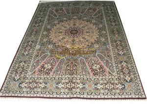 Шерсти или шелка Persian Handmade крючком обивочные ткани Главная Гостиная Шерсть Вязание Ковры Antique Carpet