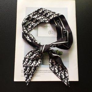 패션 시리즈 인쇄 능 직물 작은 타이 가방 손잡이 모조 실크 스카프 실크 리본 머리띠 스카프 머리 스카프 헤어 밴드 헤어 액세서리