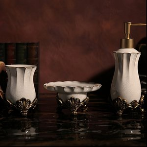 European style luxury ceramic Bath Hardware Sets,Bathroom Toothbrush Cup Soap Dishes Soap Dispensers bottle,J17694