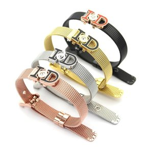 2020 designer titanium steel jewelry ID red black drop oil single diamond watch band bracelet, ladies hot sale Bracelet