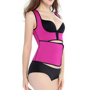 High quality Body Shapers Waist Cincher Sweat Vest Trainer Tummy Girdle Control Corset Body Shaper 4 Colors