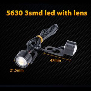 10X 3SMD Led Motor Projector Len Spotlight Handlebar Led Headlight White Fog Light Daytime Running Motorcycle Headlamp White Eagle Eye