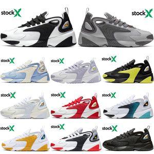 Nike Zoom M2K Triple negro M2k Tekno Zoom 2K zapatillas deportivas para hombres y mujeres zapatos para correr blakc blanco cremay blanco gris Hombres al aire libre Trainer 36-45