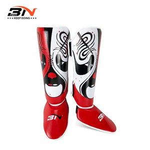 BN Facial Makeup Sanda Fighting Leg Guard for Boxing Muay Thai MMA Boxing Shoes Cover Taekwondo Protective Gear Training Legguar