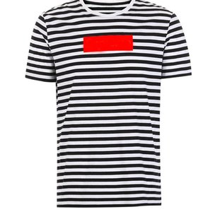 100% Famous Designer Mens T Shirt Uomo Stripe Designer Estate Uomo T-Shirt Girocollo Homme Tee Shirt Manica corta Uomo tshirt top