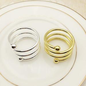 Primavera doppio tallone portatovagliolo argento oro occidentali gingilli da tavolo di colore hotel Home anello cibo tovagliolo
