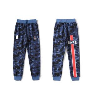 Bape Nouveau Arrivée Hommes Pantalons Styliste de haute qualité de faisceau Pantalons pied Hommes Femmes Styliste Pantalons simple impression camouflage bleu M-2XL