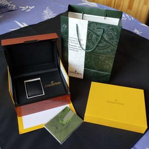 2019 mise à niveau version originale boîte papiers cadeau boîte en bois jaune ROYAL OAK 15400ST 26331ST boîte de montre de luxe montres hommes montres montre boîtes de montre