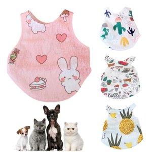 XS-XXL Frühjahr / Sommer netten Welpen-Kleid-Kleidungs-Haustier-Katze-Hunde-Weste Acrylfasern Hund Weste-Hemd-Kleidung