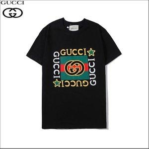2020 CUCCI Women's T Shirt Men Women High Quality Short Sleeves Fashion Boy London Men Eagle Printing Tees WJDF#B17