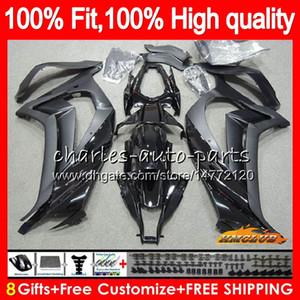 Впрыск для KAWASAKI ZX 10 R ZX1000 C ZX10R 11 12 13 14 15 46HC.1 глянцевый черный ZX 10R 1000CC ZX-10R 2011 2012 2013 2014 2015 OEM обтекатель