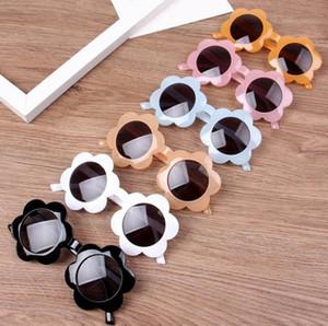 الاطفال النظارات الشمسية عباد الشمس الإطار بنات نظارات طفل رضيع نظارات شمسية الأطفال شاطئ نظارات الإكسسوارات الاطفال 6 ألوان DW5386