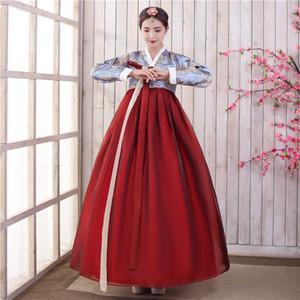 Tradicional asiática Nacionalidad Corea del traje de las mujeres del vestido hanbok coreano etapa de la danza popular Ropa Rendimiento