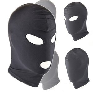 Sexy PU Leather Latex Hood Black Mask 4 Tyles Breathable Headpiece Fetish BDSM Adult for Party Toy