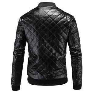 2018 AliExpress haute qualité Hommes Locomotive Manteau en cuir épais manteau en cuir Angleterre M-3XL pour hommes