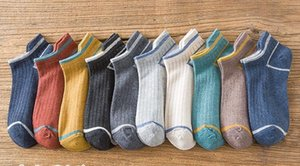 Spring and summer thin section deodorant sweat-absorbent men's boat socks trend ear lift sports short tube pure cotton socks