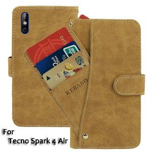 8 Farben Tecno Funken 4 Air Phone Case Brieftasche Leder Neue Gewidmet Leder Schutzhülle Fällen Schutztaschen
