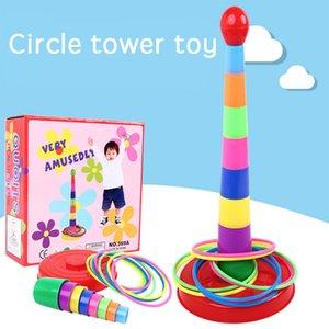 Crianças jogando a ponteira jogo de tabuleiro de paternidade Sports Games Empilhados Camadas coloridas crianças jogando ponteira Toy