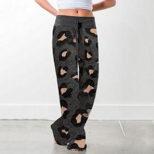Kadın Rahat Rahat pijama pantolon Geniş İpli Palazzo Salonu Pantolon Bacak 3 Stiller Sectet Ölçü Çiçek (S-XL)