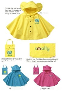 smally children's big ear cloak poncho raincoat children's cloak raincoat poncho three-color stereoscopic modeling