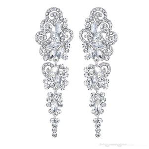 2020 Bridal Jewelry Stella Luna circolare nuova trifoglio di anti allergia della luna della stella d'argento con diamanti trafitto orecchini da sposa trasporto poco costoso