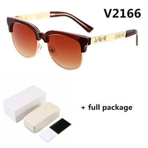 Neue Damen Designer-Brille 2166 Trend retro runden Rahmen flache Licht Männer Markenbrillen Myopie Rahmen Sonnenbrille