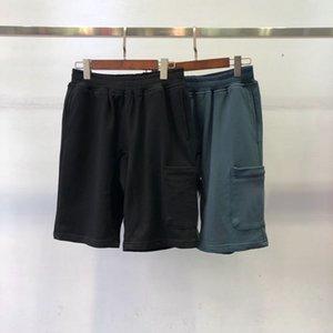 Mens pantalones cortos de playa para hombre retro pantalones pantalones deportivos de algodón azul corta Lazo del logotipo bordado de la calle del verano pantalones de deporte