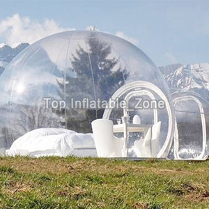 3 4 5m 10 13 16ft Outdoor Camping Inflatable Bubble Tent Large Diy House Dome Camping Cabin Lodge Air Bubble Transparent Tent