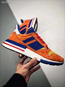 2019 Nuevo Dragon Ball ZX 500 RM Son Goku ante de los deportes de los zapatos corrientes de alta calidad de los hombres Wome ZX500 las zapatillas de deporte atsneaker Formadores jogging 36-44