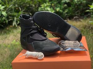 Nuevo y exclusivo de temor de Dios 1 Triple Black atlético de los zapatos de diseño Comfort Noir FOG1 Moda Deporte Zapatos zapatillas de deporte de la nave con la caja
