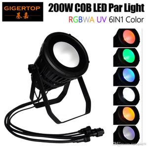 Gigertop RGBWA UV 200W Waterproof COB Led Light Par Professional Stage High Power fundo LED Light Tyanshine COB DMX 3PIN