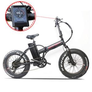 20inch vélo électrique 48v500w moteur Bafang TFT LCD graisse ebike Fold VTT électrique plage neige 4.0 vélo gros pneu
