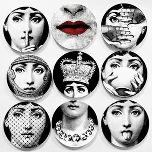 6inch Kreative Handwerk Dekoration Keramikplatten Hauptdekoration Platten-Porzellan Wandbehang Art Plates