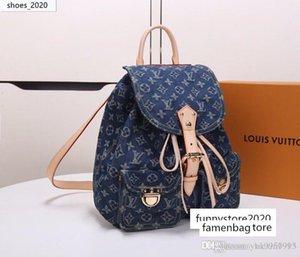 estilo denim limita mochila femenina de los tejanos mochilas de tela jean vendimia mochila alpinismo bolso la mujer BagM44460