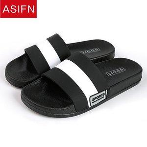 ASIFN uomini pantofole a casa cadute di vibrazione a quadretti stile Bagno diapositive maschio Fuori Moda Donna Coppia suola molle Sepatu Pria Man