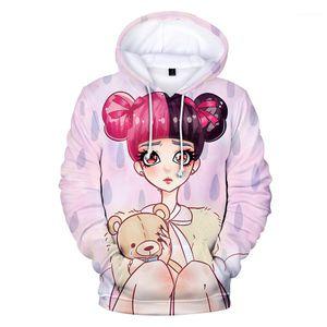 Stampato con cappuccio Felpe Carino pullover Teenager Girl Hoodie delle donne Crybaby 3D