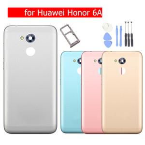 per Huawei Honor 6A Play Battery Back Cover Alloggiamento posteriore Porta posteriore in metallo Camera Card Holder Vassoio di supporto per la riparazione di pezzi di ricambio