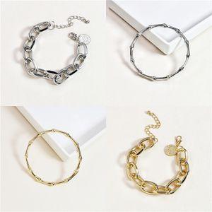 925 Sterling Alloy Bracelets For Women Length 18Cm Flower Blue Sapphire Tanzanite White Topaz Trendy Jewelry Free Gift Box#190