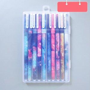Small Fresh Floral Watercolor Pen Color Gel Pen Color Water Pen 10 Pens Set Durable Practical High Quality